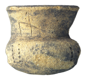 Tazza in ceramica III-I sec. a.C. - Ceramic cup, 3th-1st centuries BC