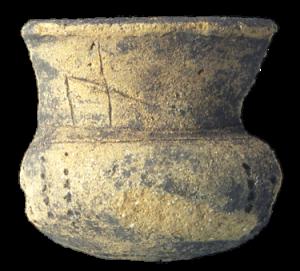 Tazza in ceramica III-I sec. a.C. - Ceramic cup, 3th-1st centuries BC